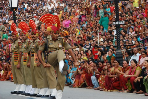 Attari Border 13,525 Spectators Sits In The New Gallery